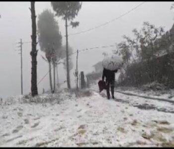 Snowfall in Nagaland